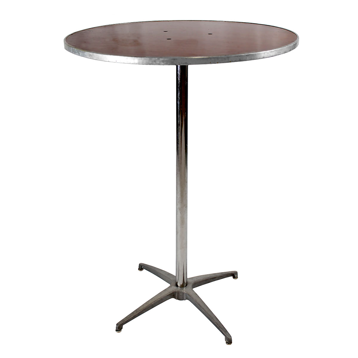 "Table 30"" Round Wood Topped 42"" Tall"