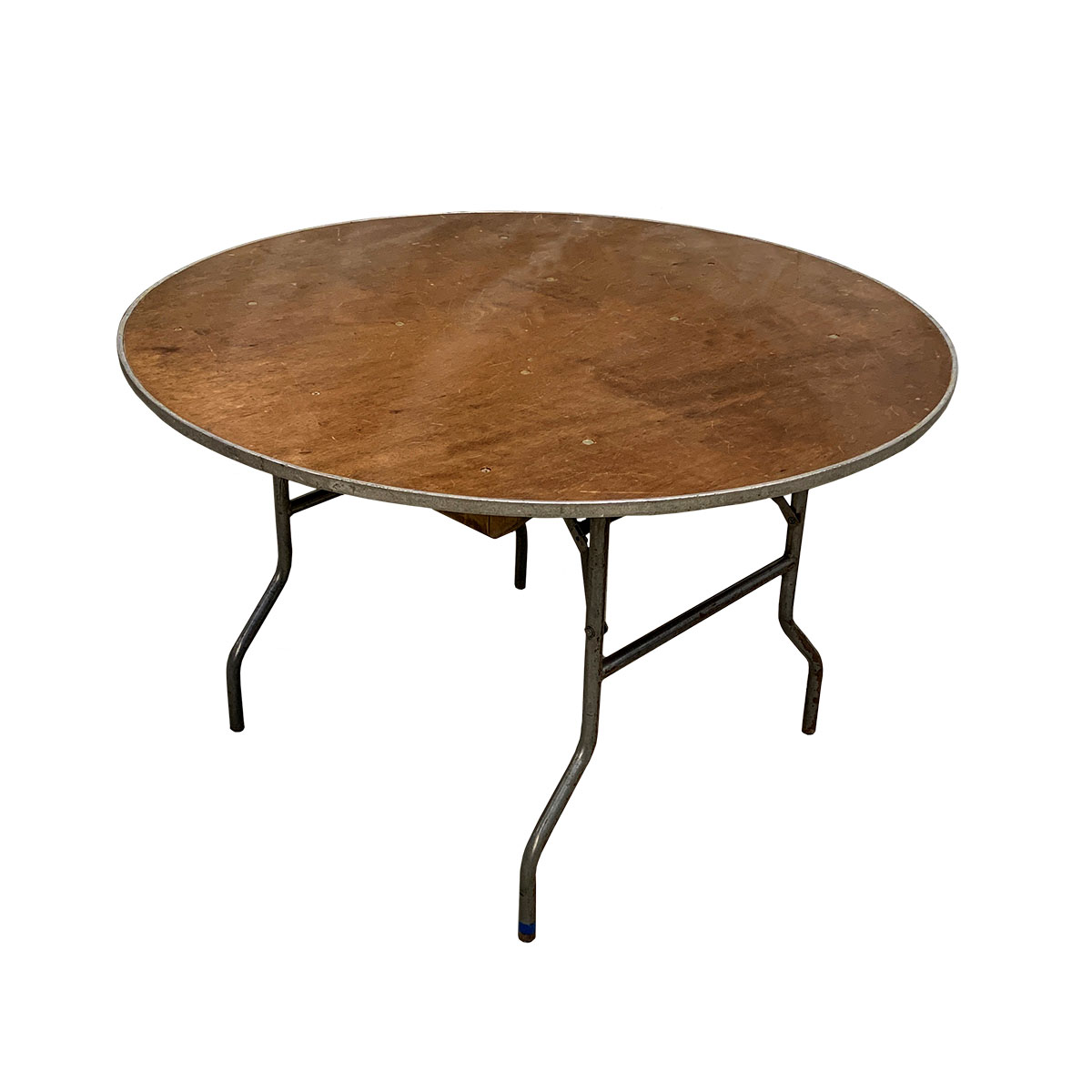 "Table 48"" Round Wood Topped"