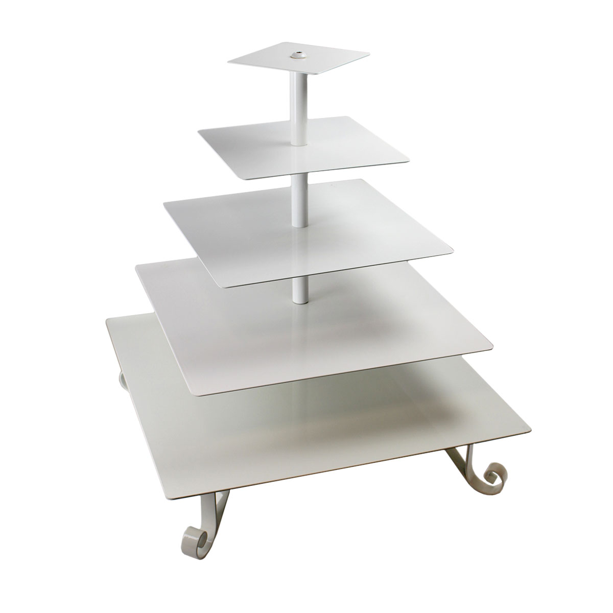 5 Tier White Square Tray