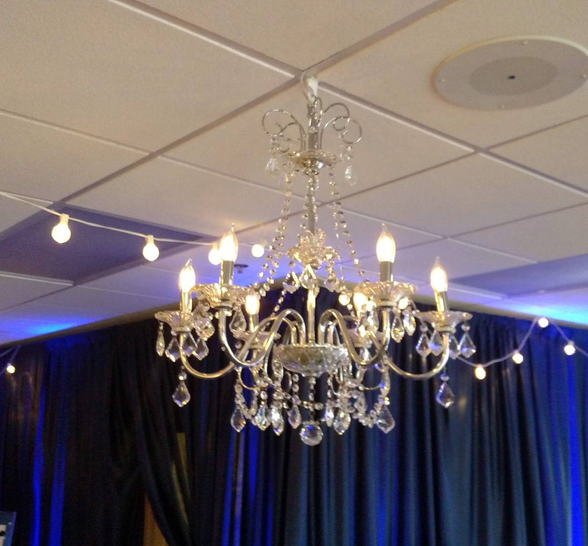 Chandelier 6-Light Chrome Crystal