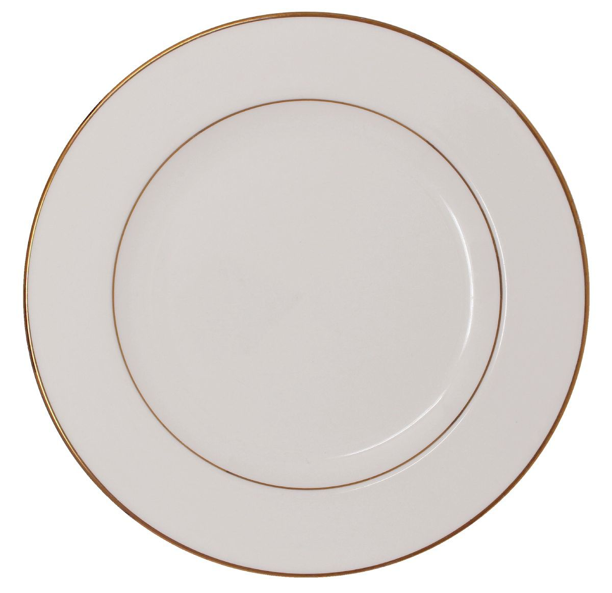 Dinner Plate Beige With Gold Band 10""
