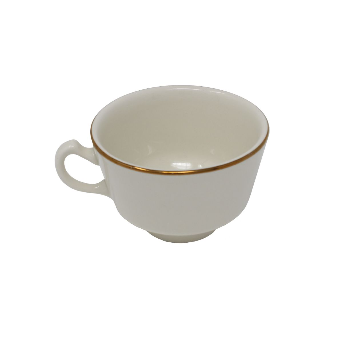 Coffee Cup Beige With Gold Band 7.75 Oz