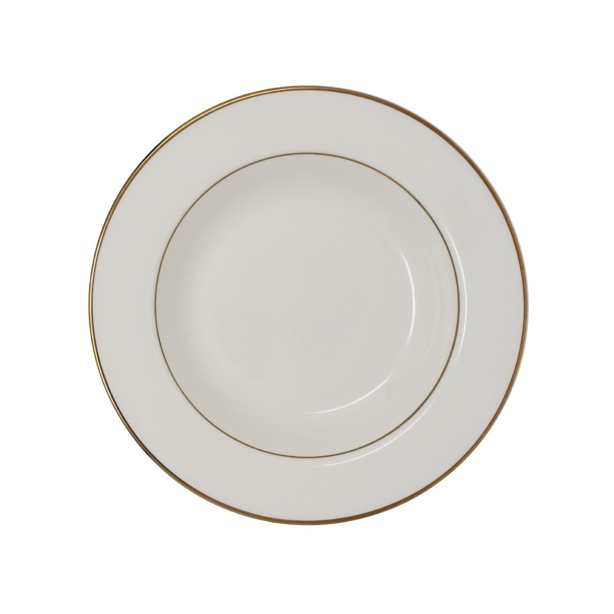 Saucer Beige With Gold Band