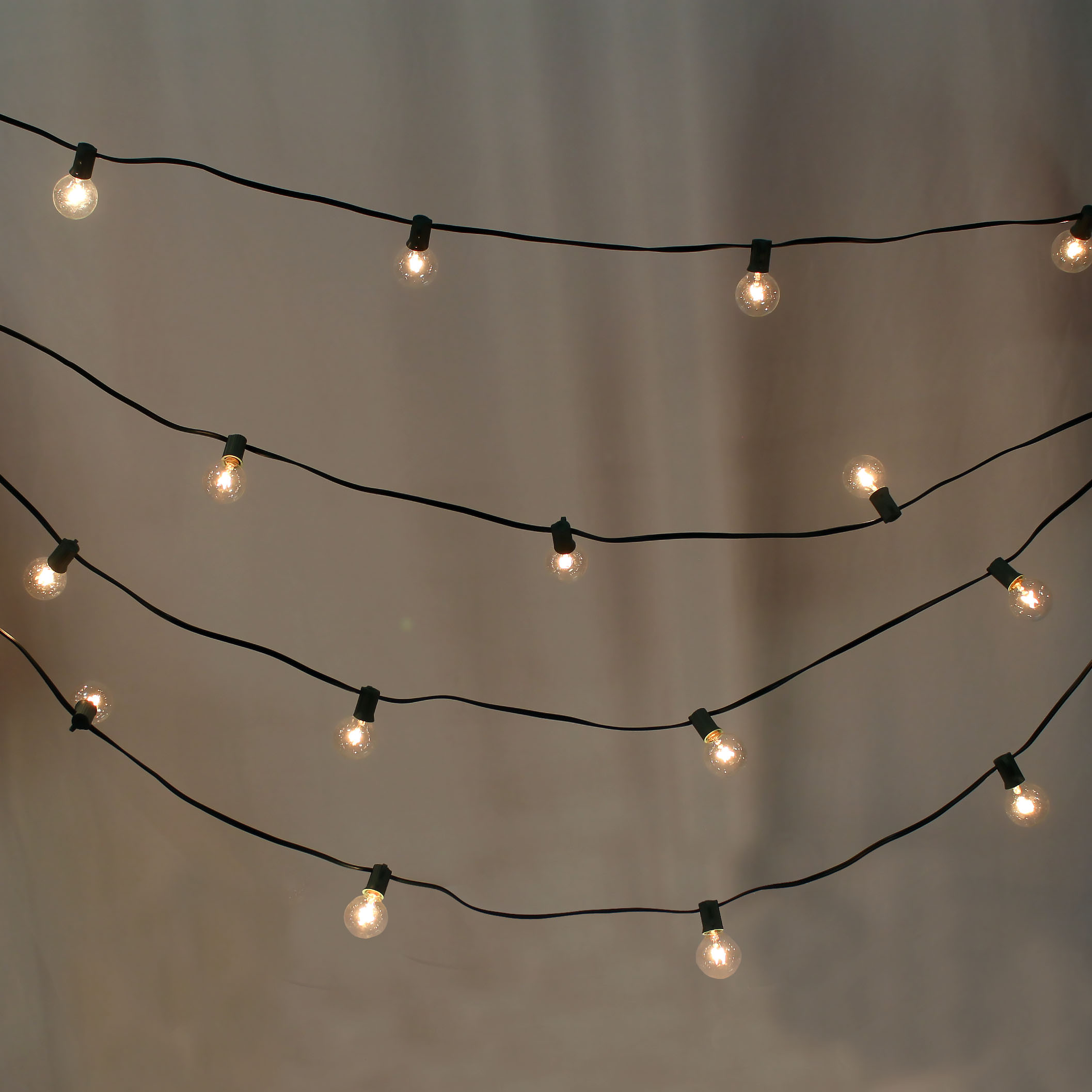 Cafe String Lights 50' Green Strand