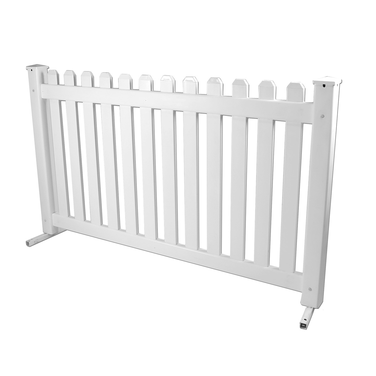 6' White Picket Fence