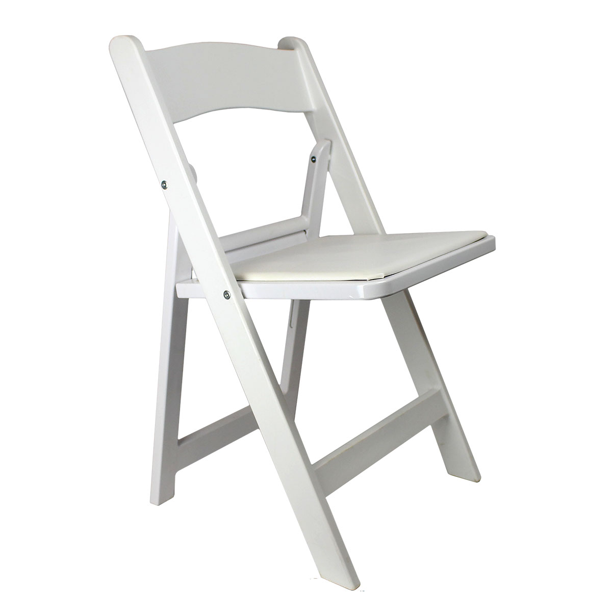 Chair White Garden With Padded Seat