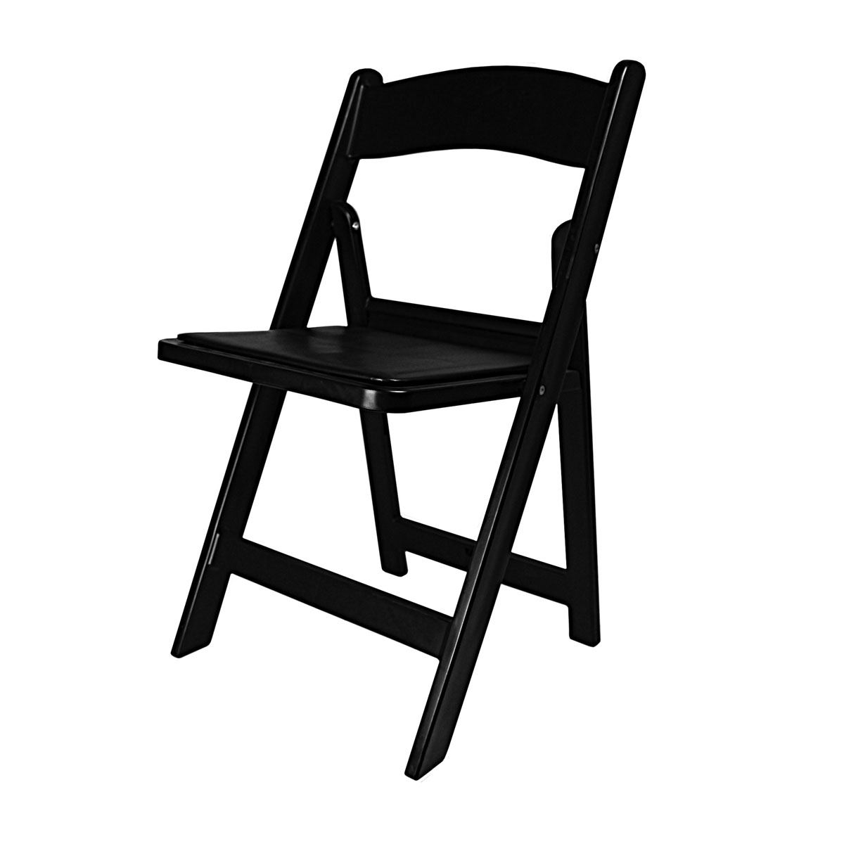 Chair Black Garden Folding With Padded Seat