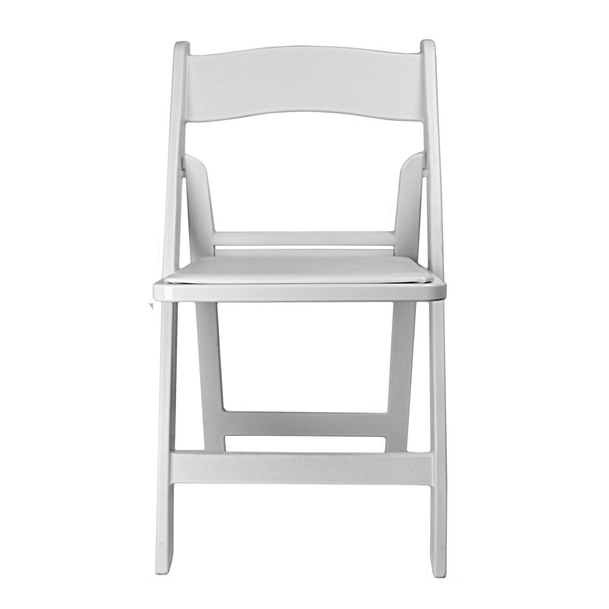 Chair White Garden Folding With Padded Seat