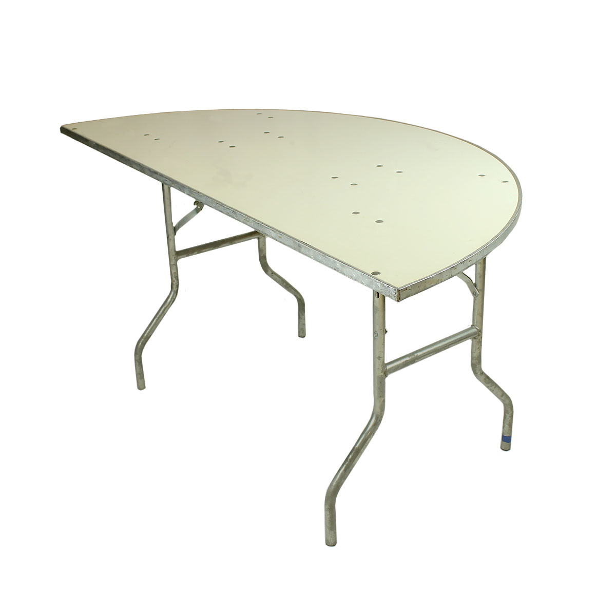 "Table Half 60"" Round White Formica Topped"