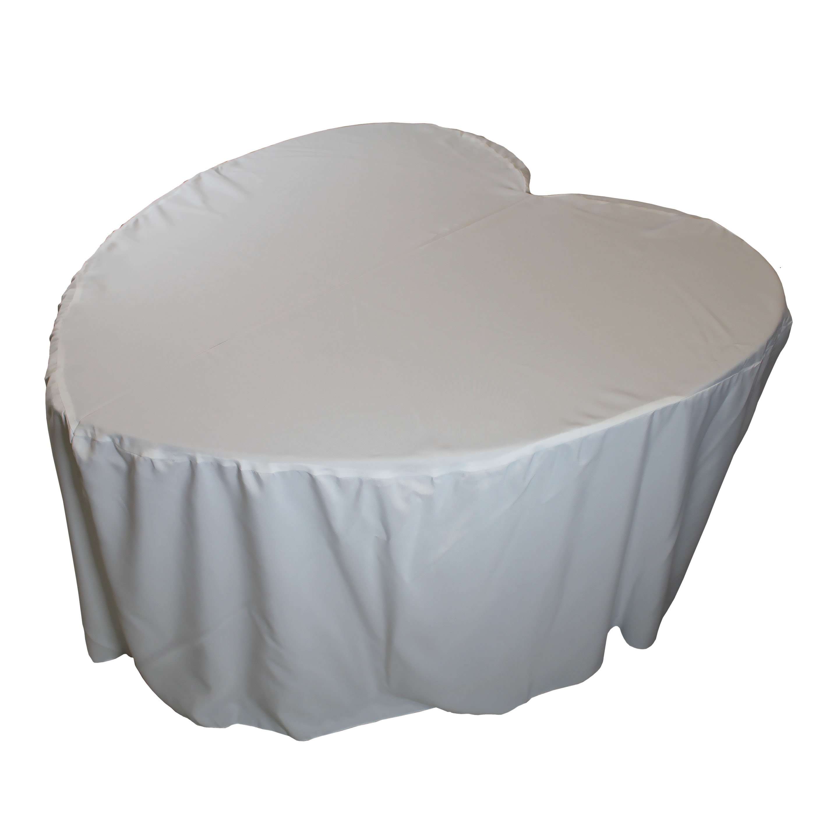 Heart Shaped Fitted Tablecover Ivory