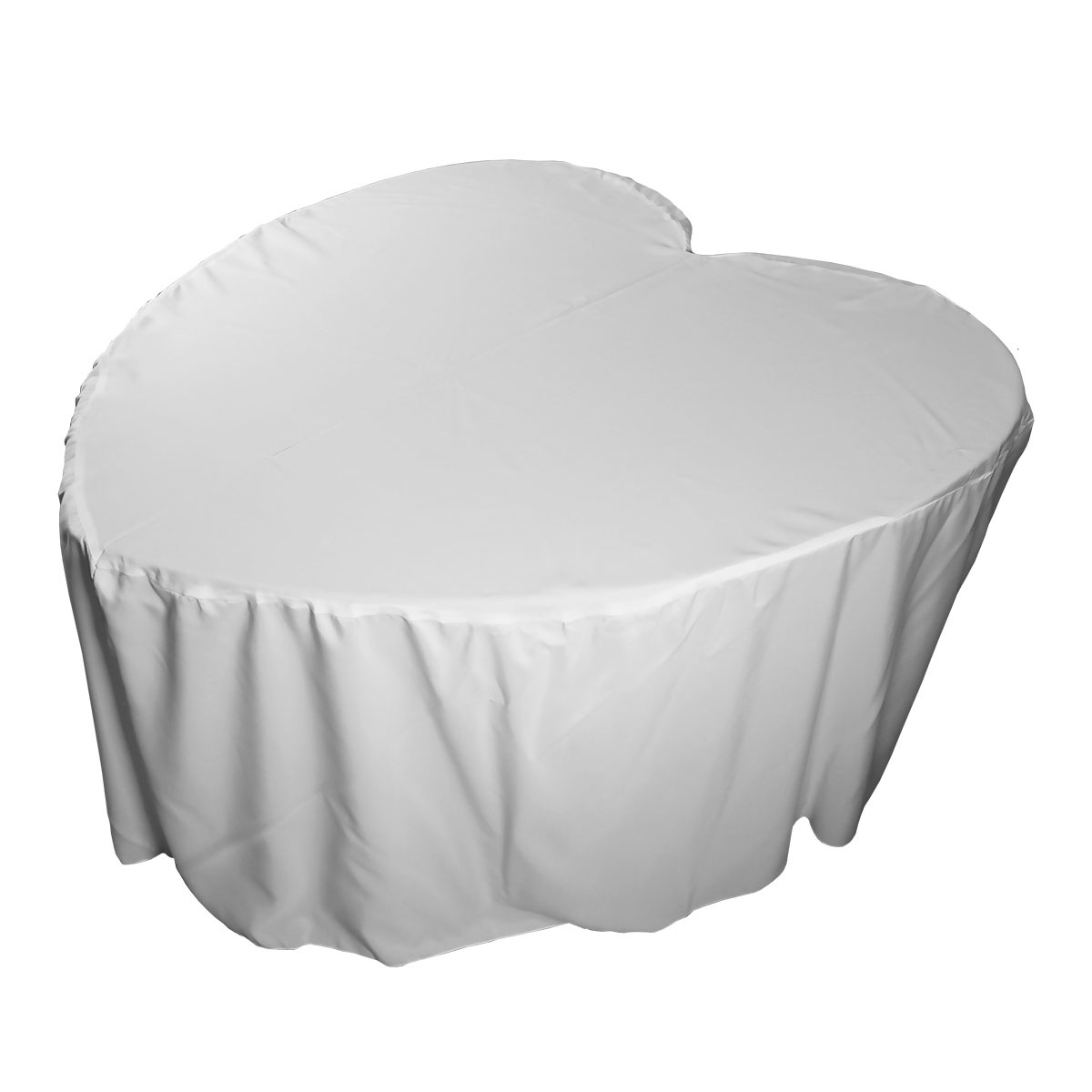 Heart Shaped Fitted Tablecover White