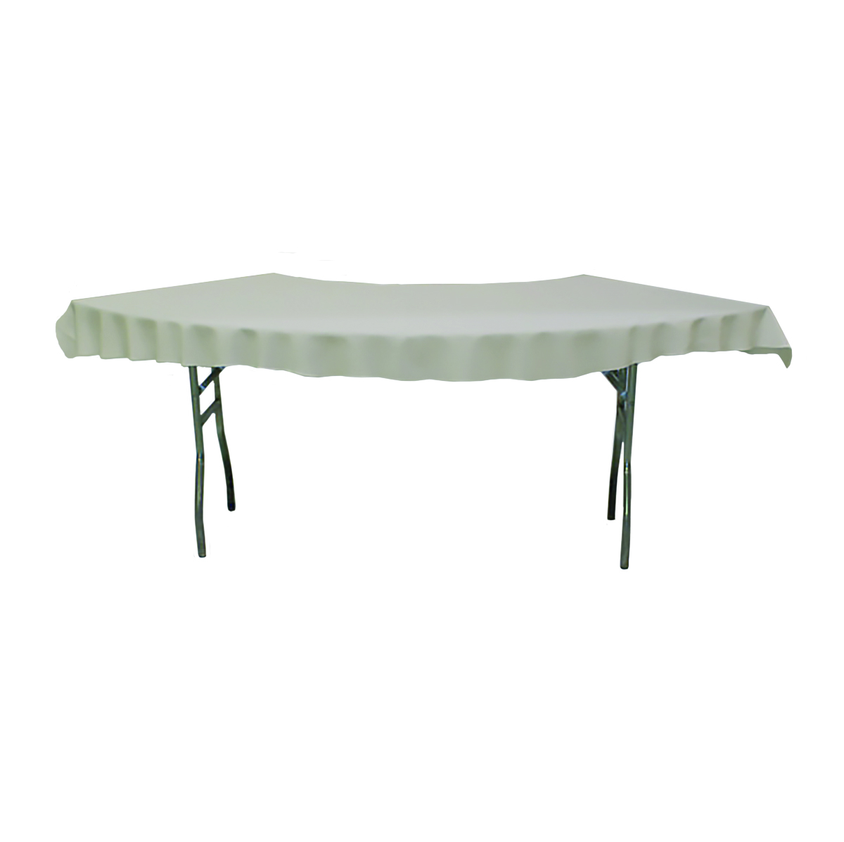 Serpentine Tablecover Top Ivory