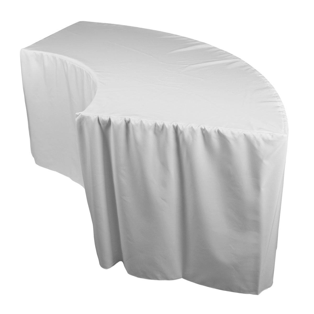 Serpentine Tablecover Fitted White