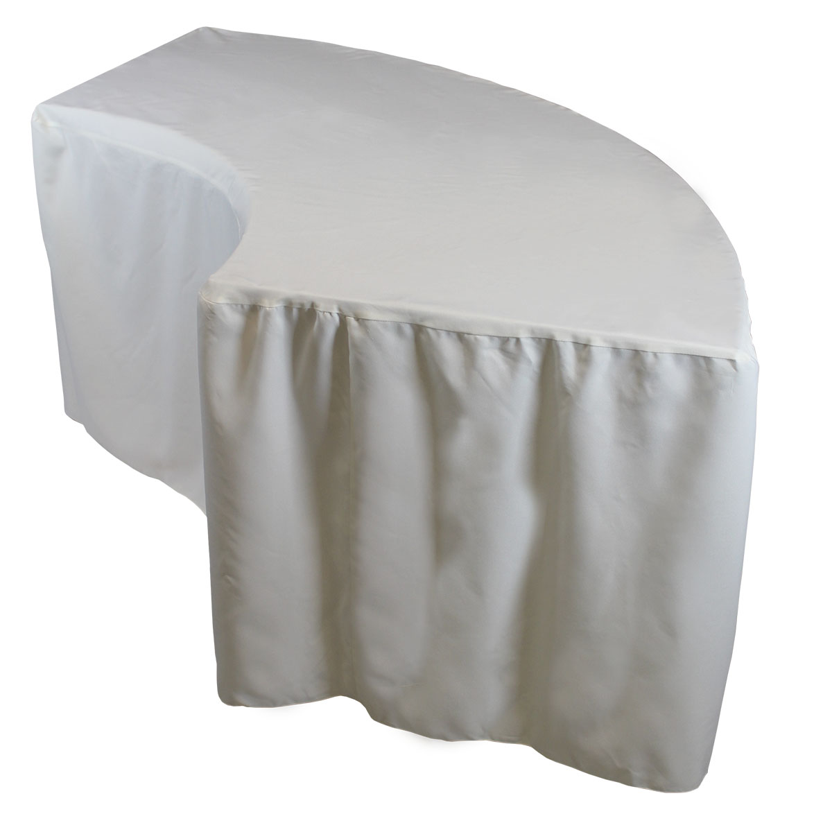 Serpentine Tablecover Fitted Ivory