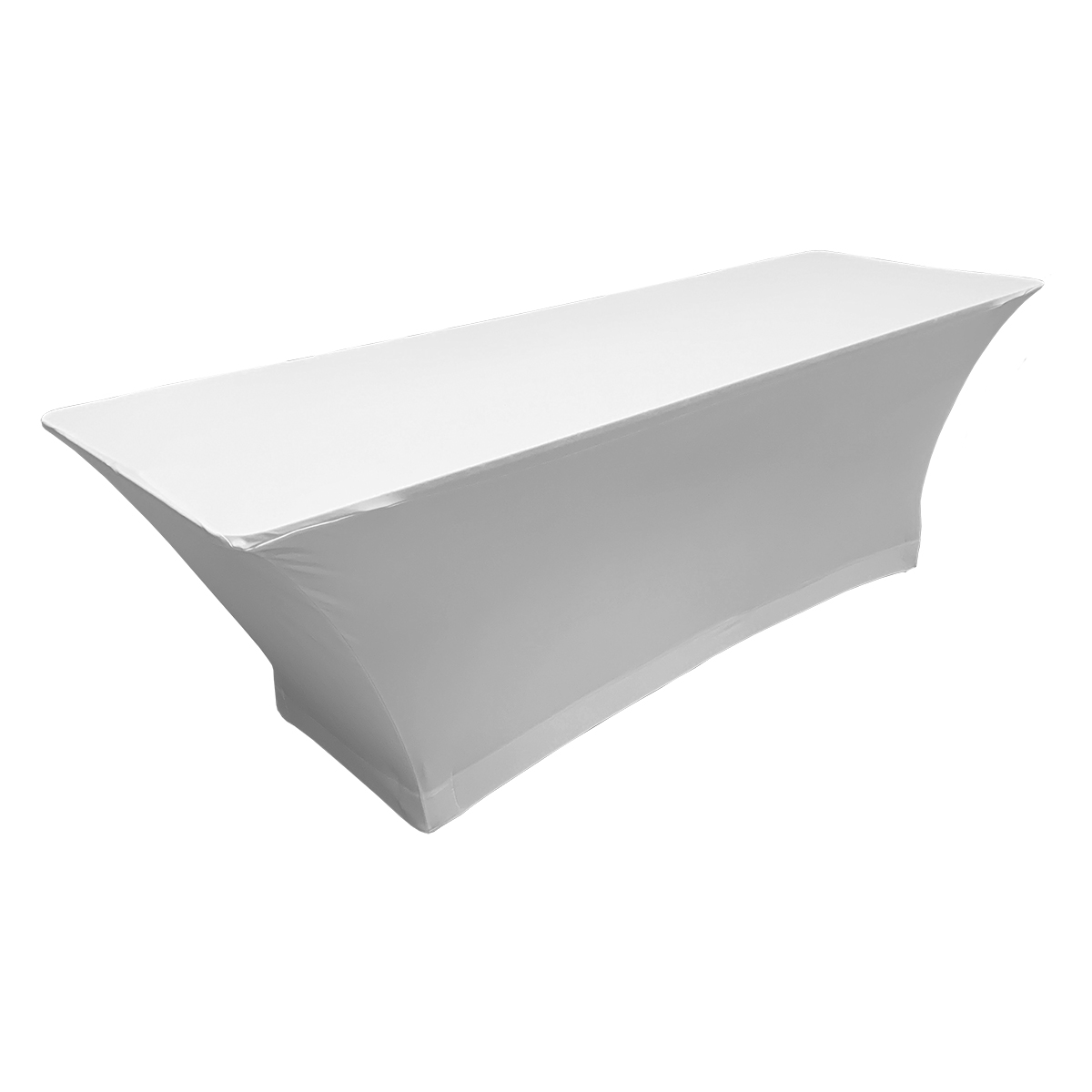 Spandex White 8' Table Cover