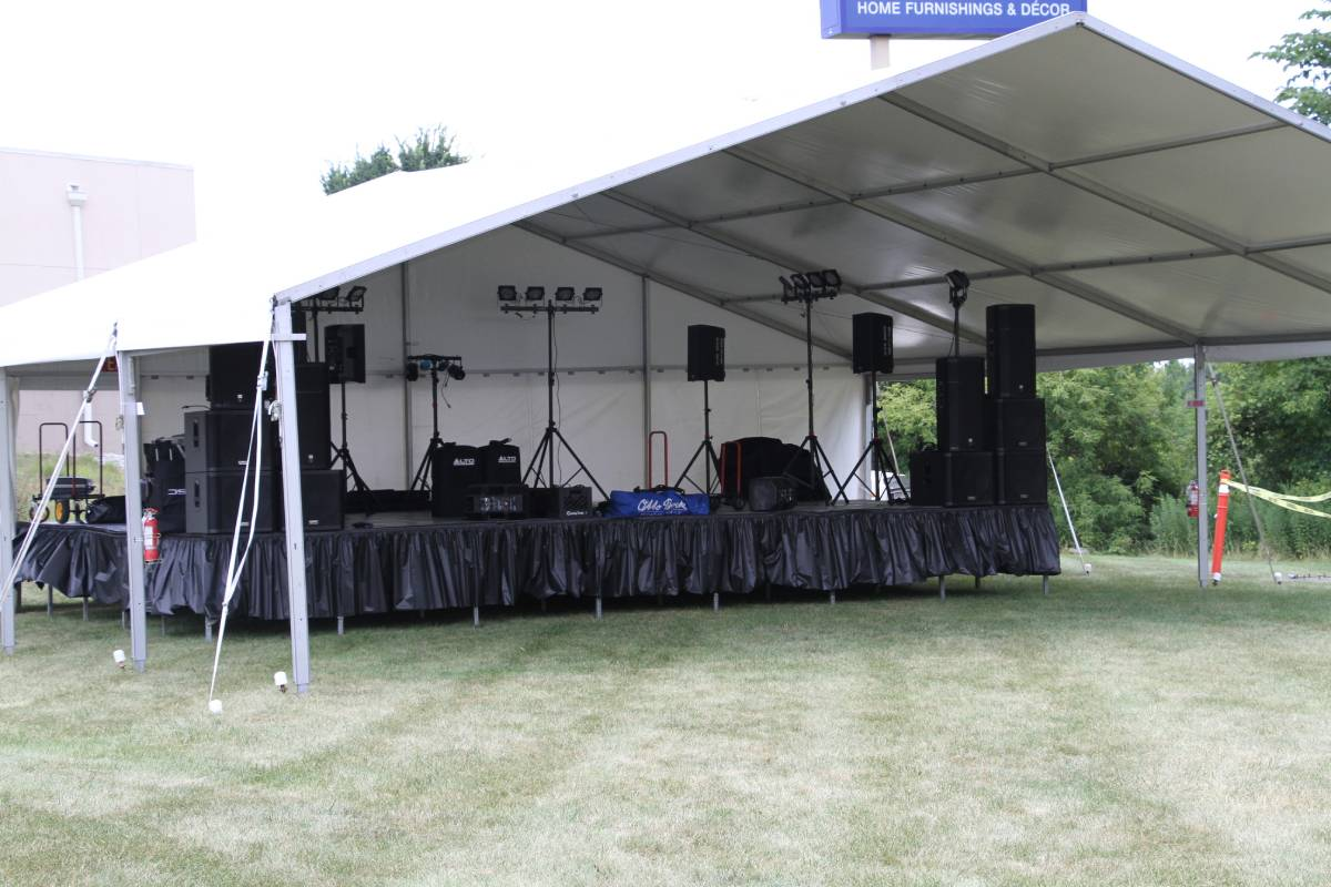 40x30 Losberger Frame Tent Band Shell
