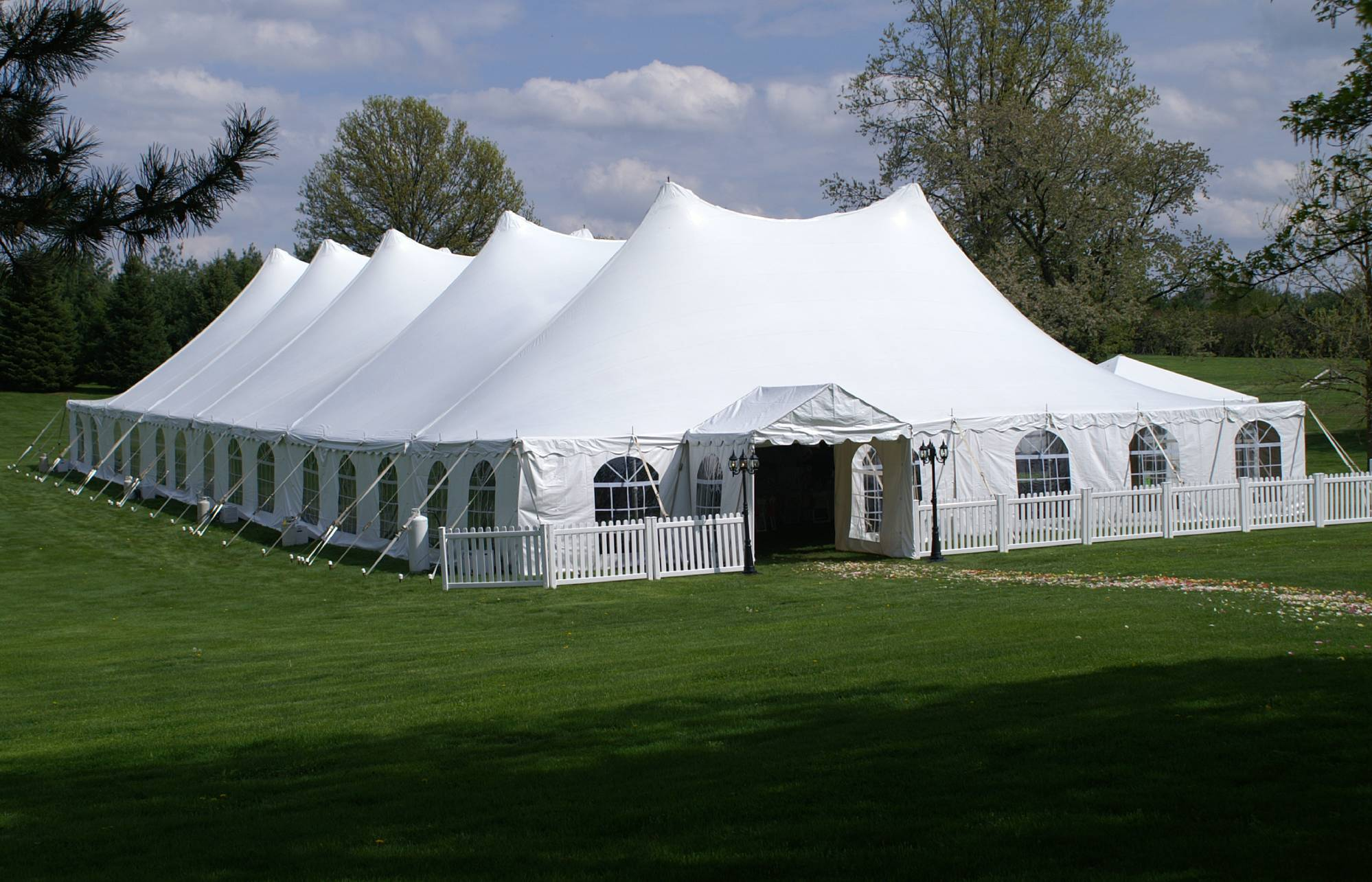 60' Wide Pole Tents
