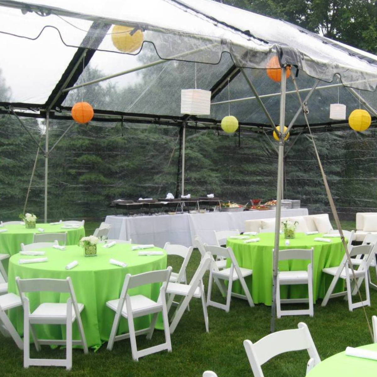 20x40 Clear With Black Trim Frame Tent
