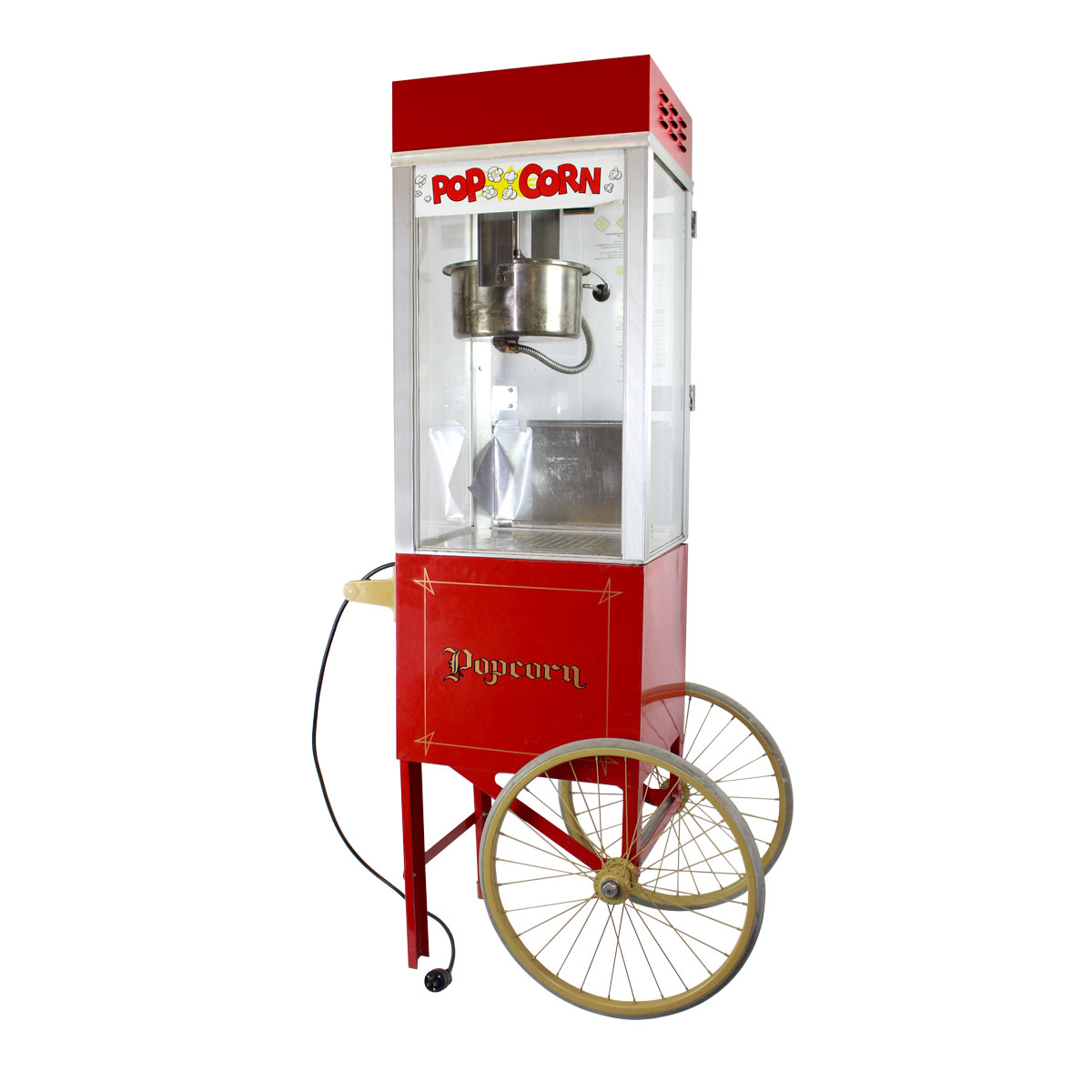 Popcorn Machine with Cart on Wheels