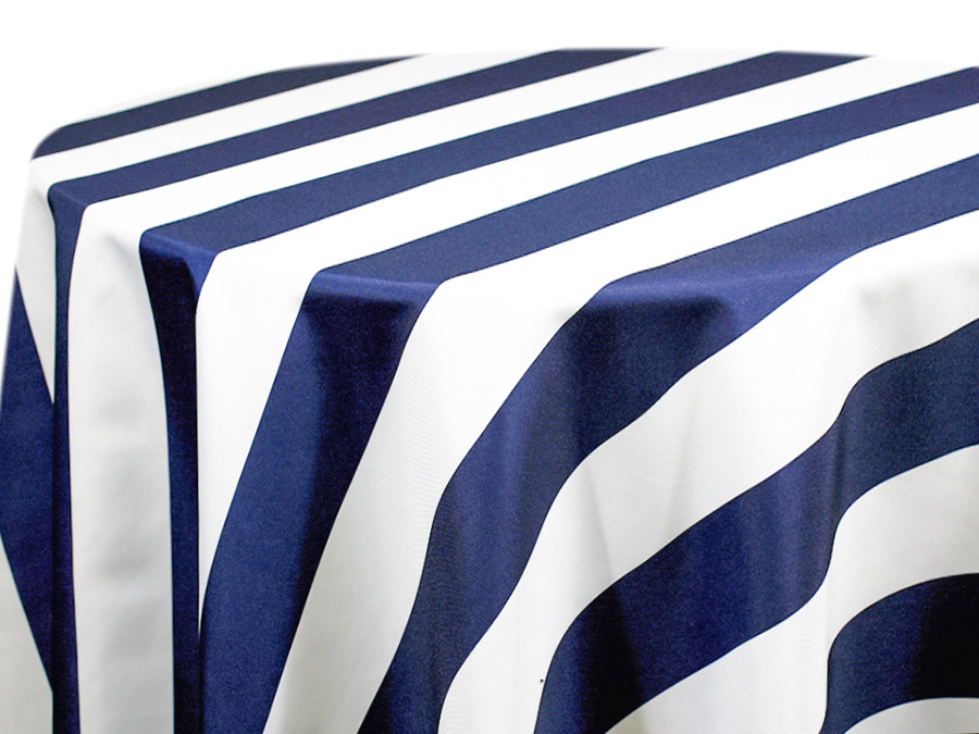 Navy & White Cabana Stripe