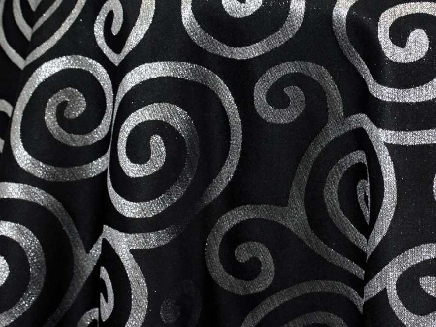 Metallic Scroll Black