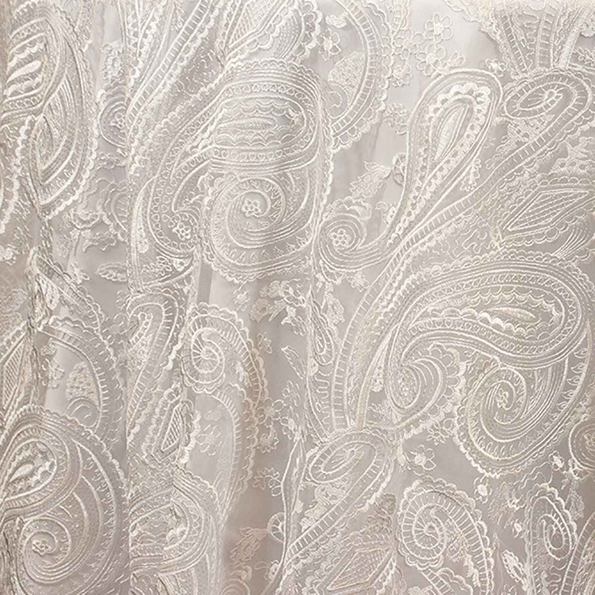 White Paisley Lace