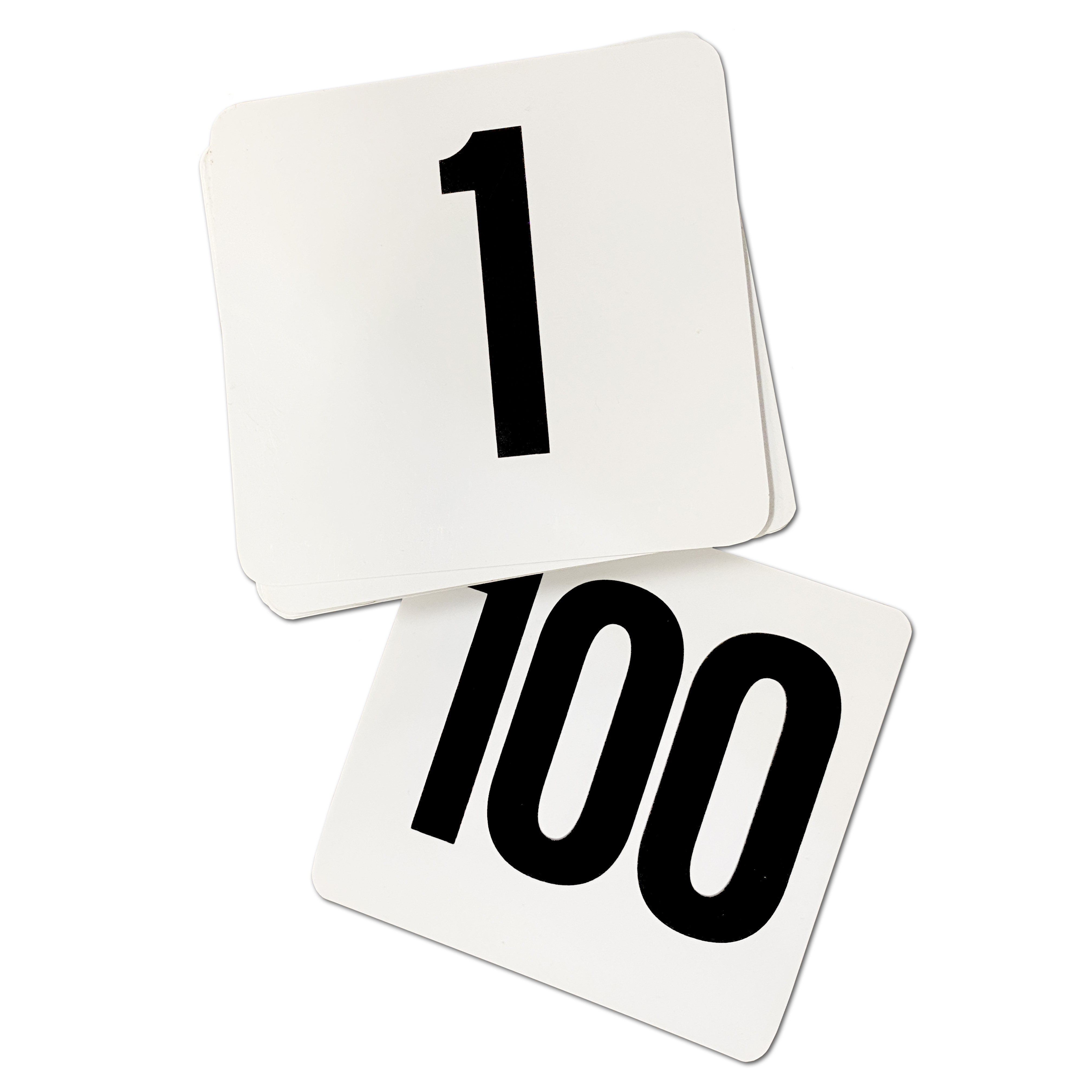 Table Number Cards 1-100