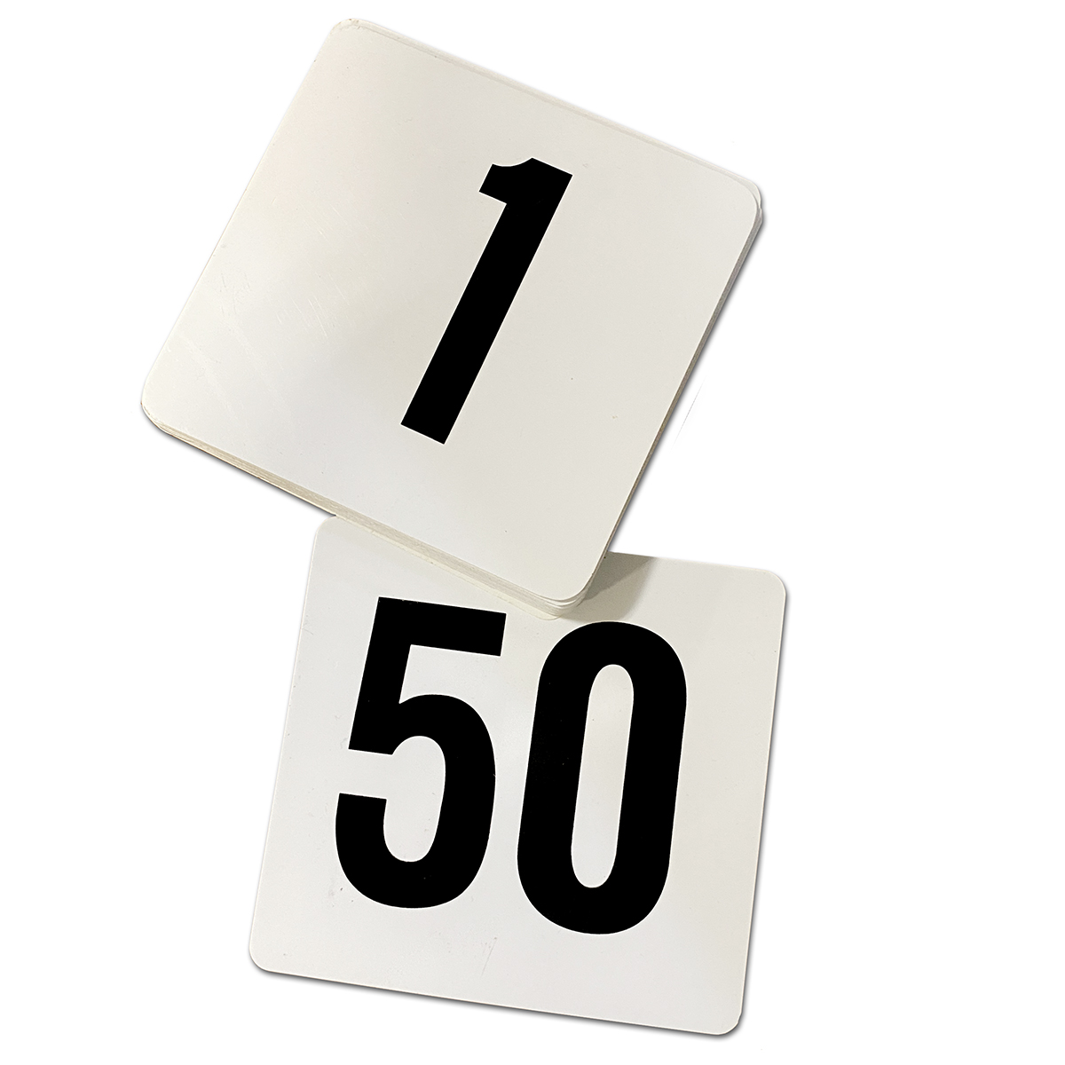 Table Number Cards 1-50